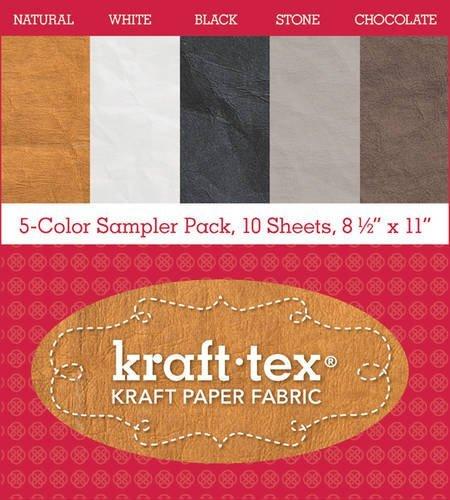 kraft-texr-5-color-sampler-pack-10-sheets-8-1-2-x-11-kraft-paper-fabric-kraft-tex-kraft-paper-fabric