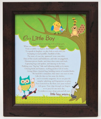 The Grandparent Gift Framed Print Wall Decor, Our Little Boy - 1