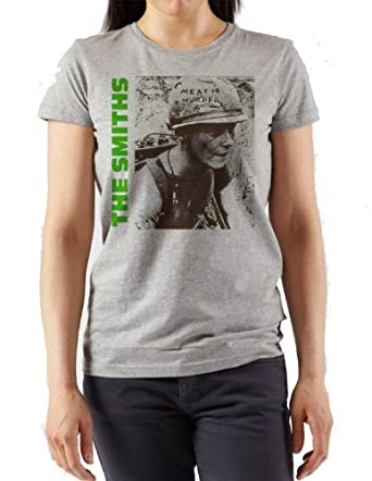 Classic The Smiths Meat is Murder T-shirt. Fitted Womans t-shirt