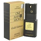 One Man Show Gold By Jacques Bogart Mens Eau De Toilette Spray 3.3 Oz 100% Authentic