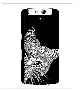 Fuson Premium Printed Hard Plastic Back Case Cover for Oppo N1