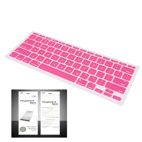 "Smart Tech ® Ultra Thin Silicone Keyboard Cover Skin For Apple Macbook Air 11.6""(Model:A1370 And A1465) (Keyboard Cove+Pink)"