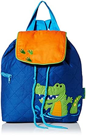 Stephen Joseph Quilted Backpack, Alligator, 12 x 13.5