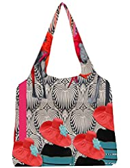 Snoogg Deer Fight Womens Jhola Shape Tote Bag
