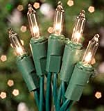 Spring Rose(TM) 300 Clear Christmas Wedding Decoration Lights with Green Cord. Two Strands of 150 Lights. String Them Up Outdoors or Indoors. These Are Beautiful Holiday Lights That Can Be Used for All Types of Events Including Halloween, Easter, or Any Type of Party or Festival. Each Strand Measures 39.5 Feet Total Length, 3 Inch Bulb Spacing, And A 26 Inch Lead Wire.