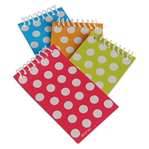 US Toy - Polka Dot Themed Mini Spiral Notebook Memo Pads, Asstd Color, Dozen - 1