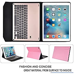 iPad Pro 9.7 Keyboard case, IVSO APPLE iPad Pro 9.7 Case With Keyboard Ultra-Thin High Quality Aluminium Bluetooth Keyboard Stand Case / Cover for APPLE iPad Pro 9.7 Tablet(Pink)