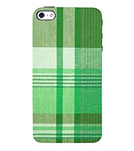 Green Checks Wallpaper 3D Hard Polycarbonate Designer Back Case Cover for Apple iPhone SE