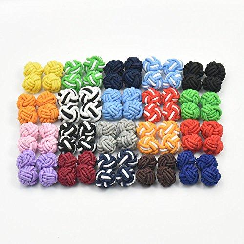 20-50-100-Pairs-New-Silk-Knot-Cufflinks-Cuff-Links-Blank-Pad-MIx-color