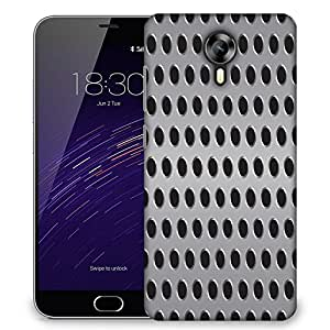 Snoogg Grey Holes Designer Protective Phone Back Case Cover For Meizu M2