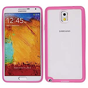 TPU Frame + Back Hard Clear Crystal Case Cover For Samsung Galaxy Note 3 III Rose