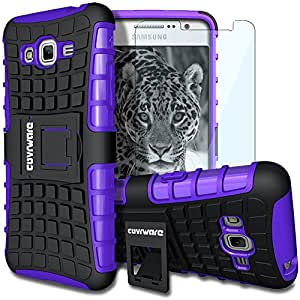 Galaxy Grand Prime (G530) Case, COVRWARE - Terrapin Series Armor Protective Case with Kickstand [ Include HD Invisible Film ] - Retail Packaging - Purple