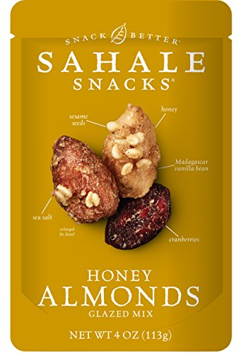 Sahale Snacks Honey Almonds Glazed Mix, 4 Ounce (Pack of 6) (Goat Cheese Cranberry compare prices)
