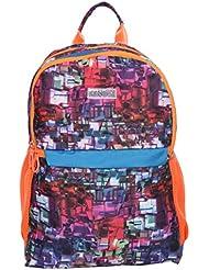 Bendly Unisex Kids School Bag Picnic Bag Backpack Digi PU Medium Size Orange