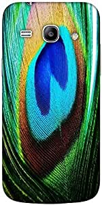 Snoogg Peacock Feather Closeup Solid Snap On - Back Cover All Around Protecti...
