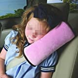 eKingstore Children Car Soft Seat Belt Shoulder Pad Pillow Headrest Support Pillow Pink