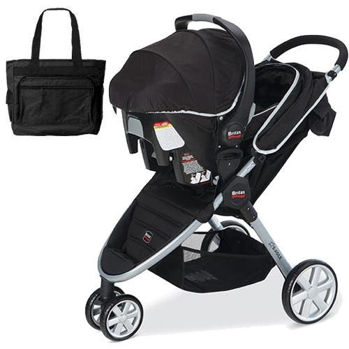 britax b agile travel system with matching car seat and diaper bag in black buy baby outfit. Black Bedroom Furniture Sets. Home Design Ideas