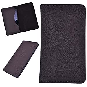 DCR Pu Leather case cover for Micromax Bolt A064 (brown)