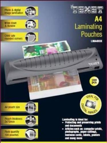 texet-a4-laminating-pouches-150-microns-pack-of-100