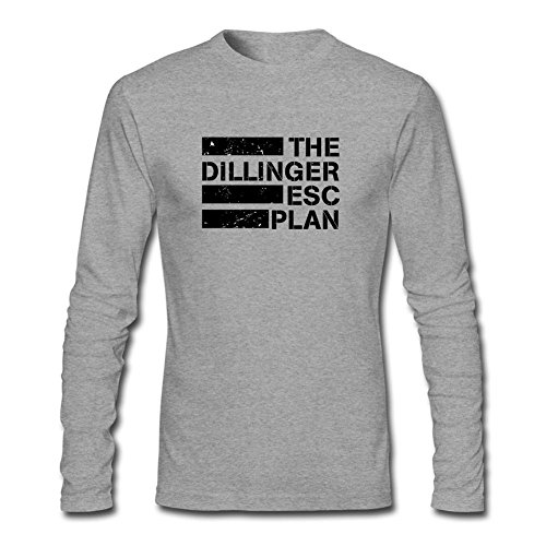 XIULUAN Men's The Dillinger Escape Plan Band Logo Mathcore Long Sleeve T-shirt XXXL ColorName (One Direction Larry Shirt compare prices)