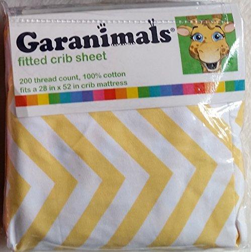 Garanimals Yellow Chevron Fitted Crib Sheet