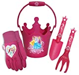 Midwest Gloves and Gear PR14P17-EA-AZ-6 Magnificent Pink Girls Disney Princesses Hat, Trowel and Bucket Combo Pack