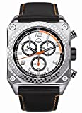 Harley Davidson Bulova Men's Watch--NEW for 2009. Silver patterned dial. Stainless steel case. Black leather strap. Water resistant to 50 meters, 165 feet. 76A125