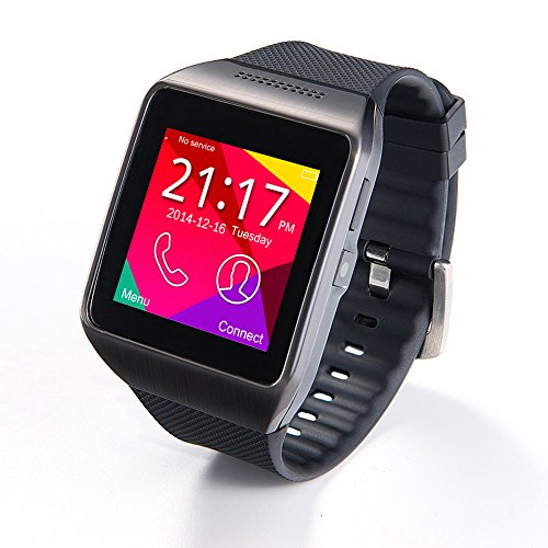 Pugo Top Bluetooth Smart Watch R750 Wristwatch Phone Android Smartphones (Black)