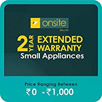 Onsite Secure 2 Year Extended Warranty for Small Appliances (Rs 0 - 1000)