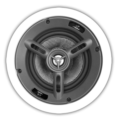 Osd Audio Mk650 6.5-Inch Kevlar Woofer 175-Watt In-Ceiling Speaker With Bass And Treble Swtich, Pair