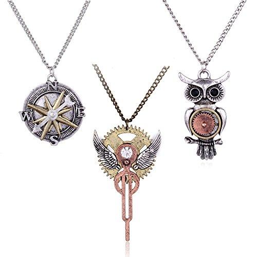 HUAN-XUN-Antique-Steampunk-Necklace-Victorian-Necklace-Various-Styles-Designs