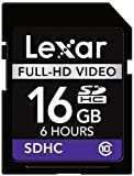 Lexar 16GB SDHC Full-HD Video Card