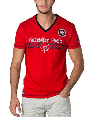 CANADIAN PEAK Camiseta Manga Corta Joga Rojo