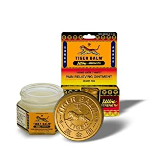 Tiger Balm Pain Relieving Ointment, Non-Staining, Ultra Strength, 0.63 Ounces (Pack of 2)