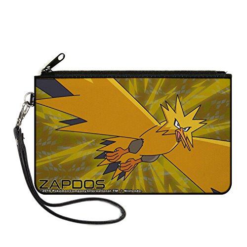 Pokemon Canvas Zipper Wallet - Zapdos Legendary Electric Bird Flying (Pokemon Platinum Legendary compare prices)