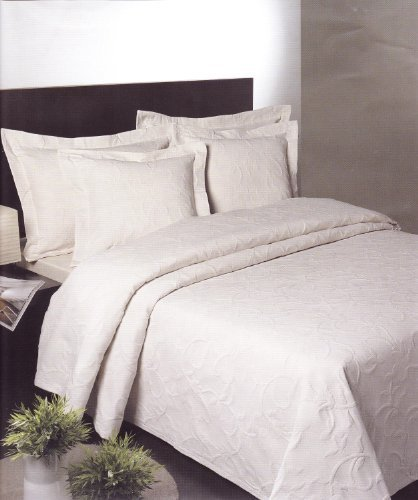 Florentina Cotton Rich King Bedspread in White