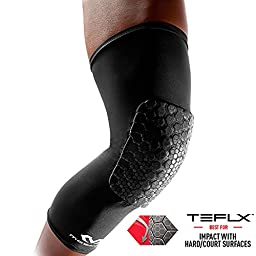 McDavid Pair Teflx Leg Sleeves, XX-Large, Black