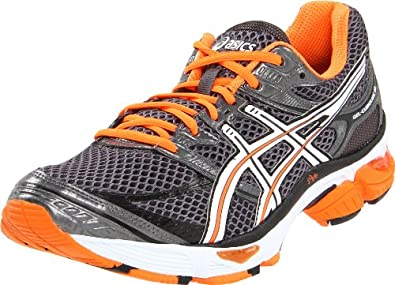 ASICS Men's GEL-Cumulus 13 Running Shoe,Titanium/White/Electric Orange,14 M US