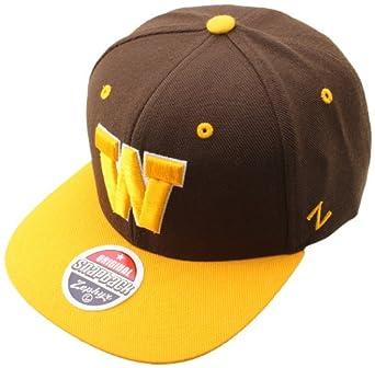 Buy NCAA Wyoming Cowboys Apex Snapback Hat, Dark Brown by Zephyr