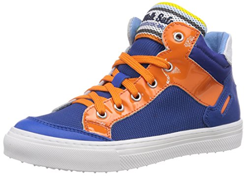 Walk safari SNEAKER, Sneaker alta bambino, Blu (Blau (BLUET/ARANC/BIANCO)), 30
