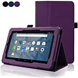 Fire 7 2015 Case - ACdream (TM) Protective Premium PU Leather Cover Case for Kindle Fire 7 Tablet(5th Generation 2015 release), Purple