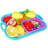 Juguetes de Preescolares Reutilizables Friut Corte Niños Plástico para Alimentos de Cocina