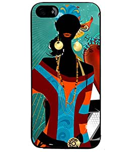 Fuson Style Girl Back Case Cover for APPLE IPHONE 4S - D3882