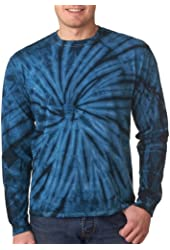 Tie Dyes Men's Reactive-Dye Long Sleeve T-Shirt