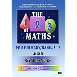 The 123 of Maths : Les. 12 Quantitative Aptitude