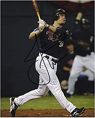 "Justin Morneau Minnesota Twins Autographed 8"" x 10"" Hit Photograph - Fanatics Authentic Certified - Autographed MLB Photos"