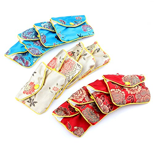 TOOGOO(R) 12 x Jewellery Jewelry Silk Purse Pouch Gift Bag Bags HOT