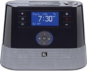 AR ARIR200 Tabletop Wi-Fi Internet Radio with Alarm (Black)