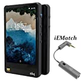 HiBy R6 SRC-Free Hi-Res Android Digital Audio Player Portable Bluetooth MP3 Player (Black) (Color: Black, Tamaño: None)