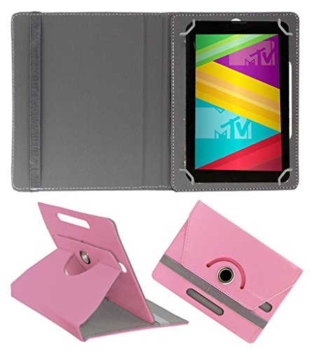 Acm Rotating 360° Leather Flip Case For Swipe Mtv Slash 4x Tablet Cover Stand Light Pink  available at amazon for Rs.149